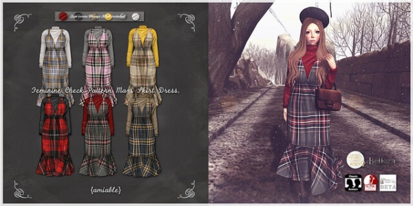 amiablefeminine_check_maxi_skirt_dress