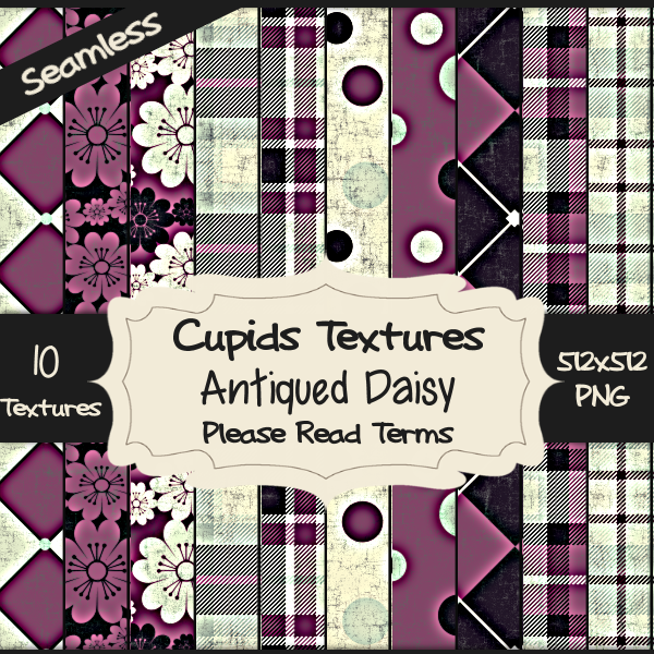 10 ANTIQUED DAISY