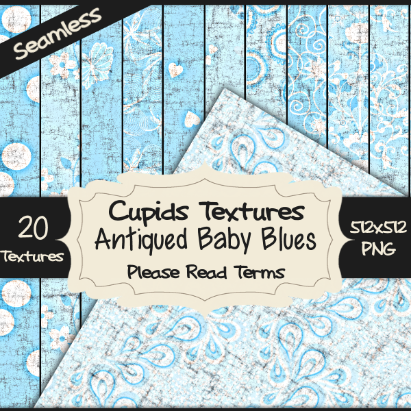 20 ANTIQUED BABY BLUES