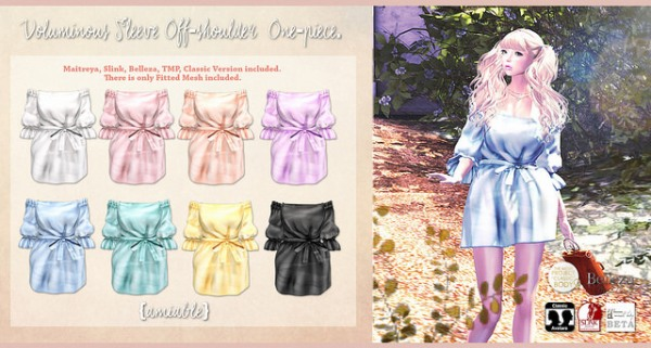 {amiable}Voluminous_Sleeve_Off-shoulder_One-piece