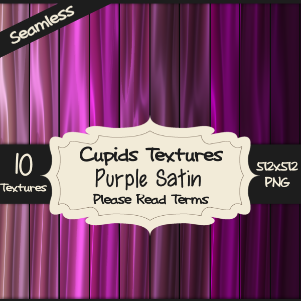 10 PURPLE SATIN