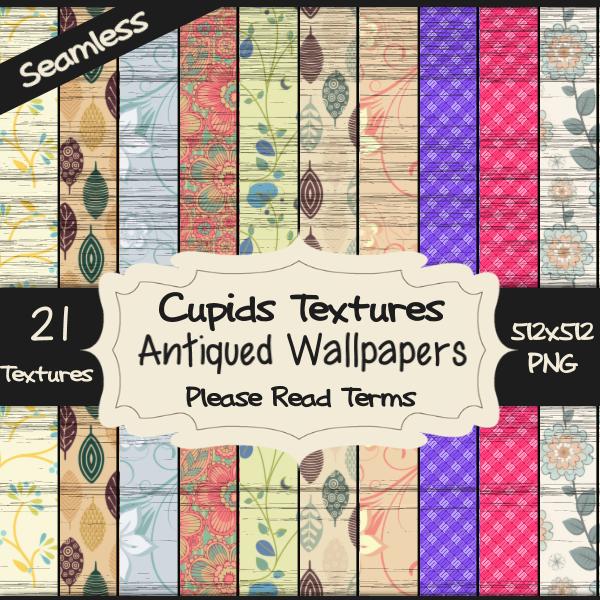 21 ANTIQUED WALLPAPER