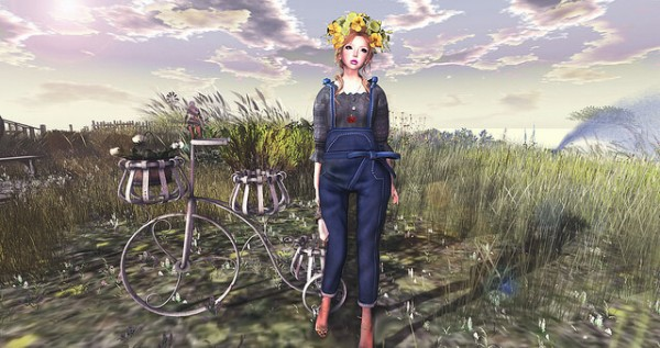 {amiable}Cotton_Blouse&Bow_Salopette_Pants2