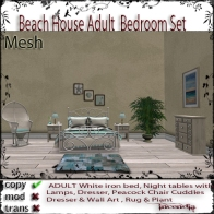 Beach House ADULT Bedroom Set