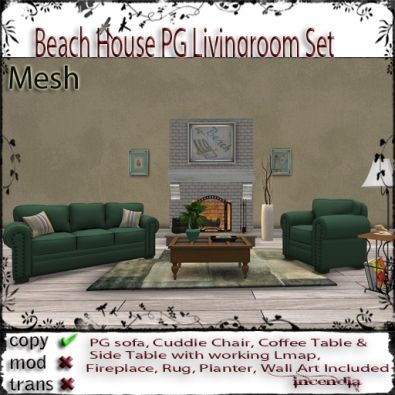 Beach House PG Livingroom Set