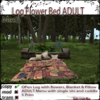 Log Flower Bed ADULT
