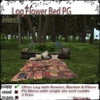 Log Flower Bed PG