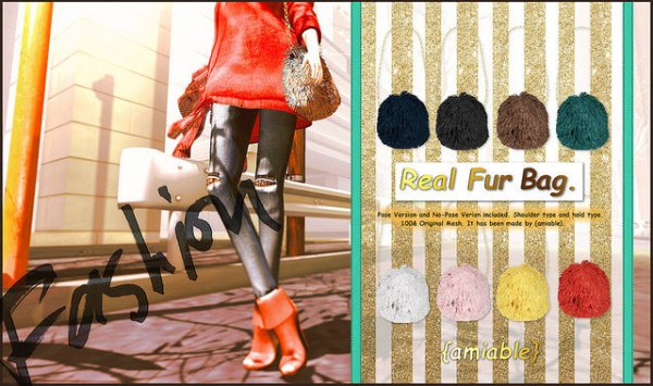 {amiable}Real_Fur_Bag