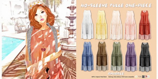 {amiable}No-sleeve_tulle_one-piece_AD