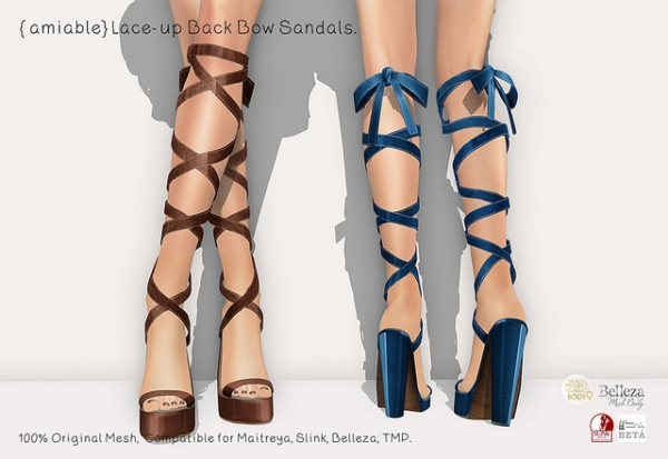 {amiable}Lace-up Back Bow Sandals_AD